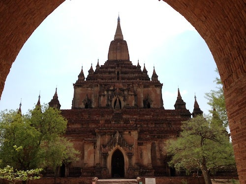 Ornate Sulamani is known as the crown jewel of Bagan.