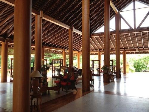 The lobby at the Hotel at Tharabar Gate.