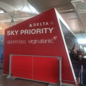 Virgin Atlantic/Delta SkyPriority check-in at Terminal 4