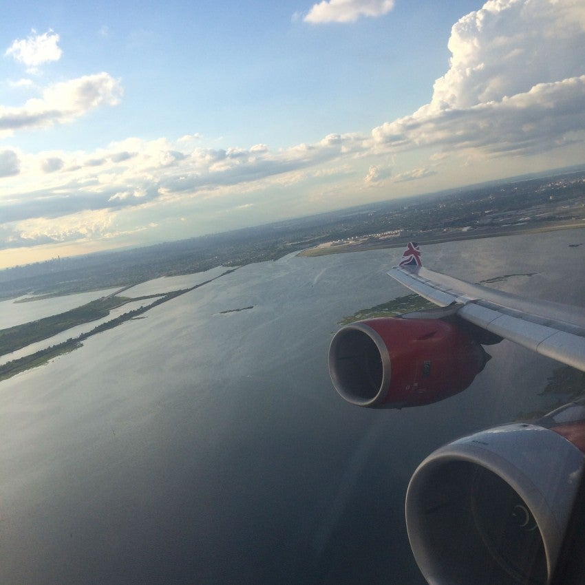 Taking off on my, um, virgin flight
