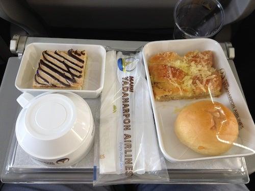 The breakfast tray on Mann Yadanarpon.