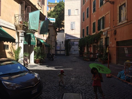 The traffic free courtyard is quiet, and you don't have to worry about your kids playing in street.
