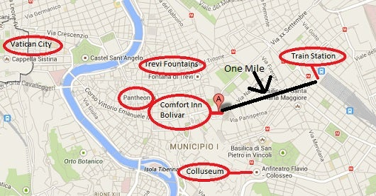 The Bolivar is located in the center of the city near all of the major attractions.