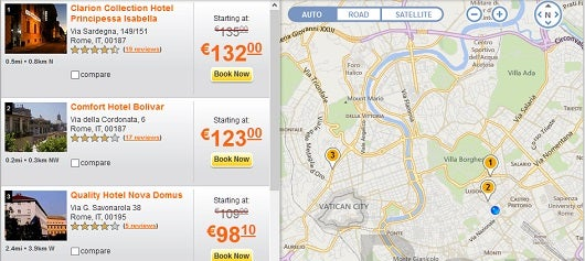 There are three different Choice hotels in central Rome, all for just 10,000 points per night.