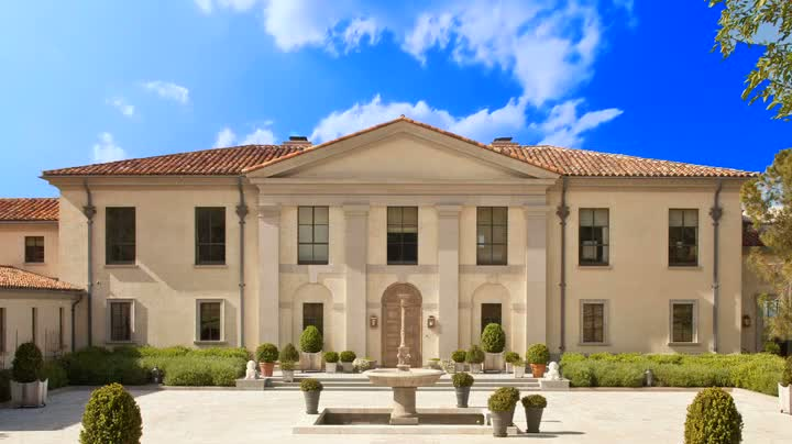 Bellosguardo, the Clark family estate, as pictured in its Christie's auction catalogue