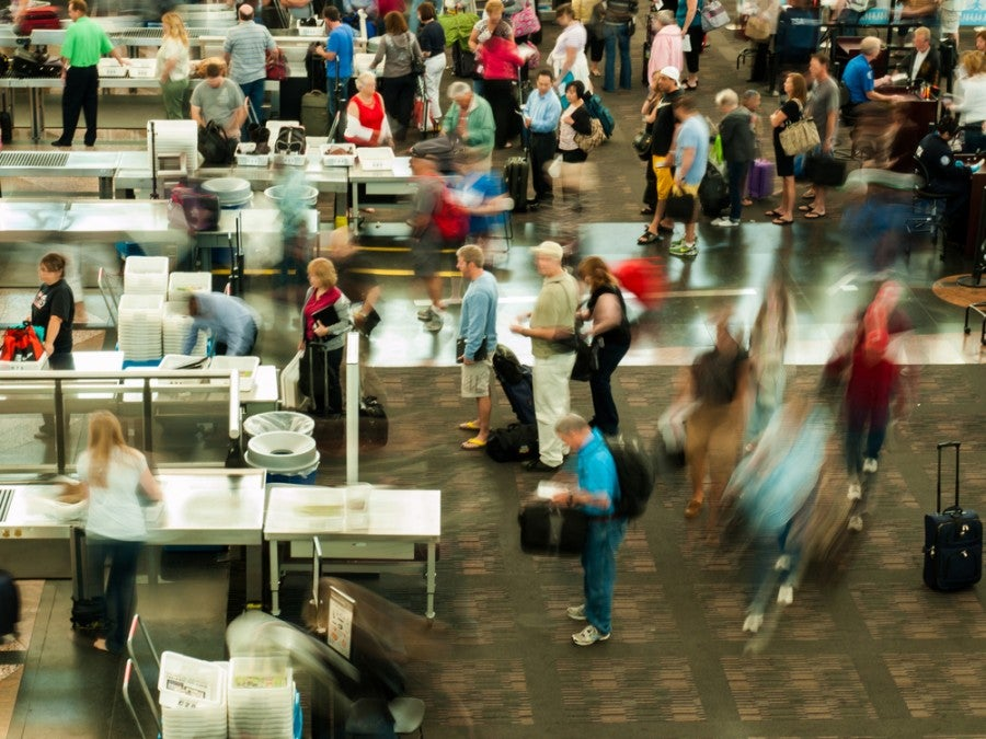 The TSA is running a crowd-sourced competition to award $15K to the person who can streamline the PreCheck line (Image courtesy of Arina P Habich / Shutterstock)