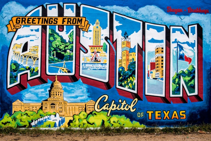 This Gilt/Delta promotion covers discounted first- class fares to and from Austin, Texas (Image courtesy of Shutterstock)