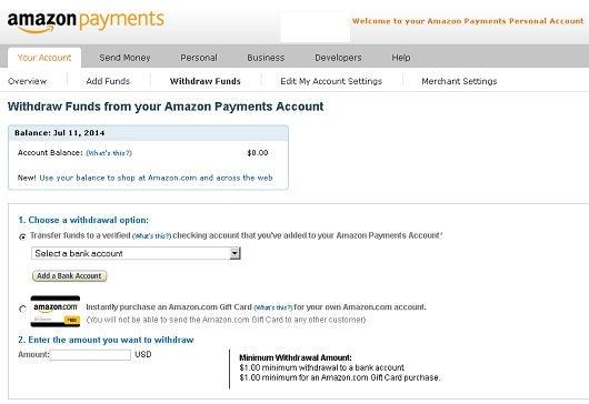 Amazon seller bank statement