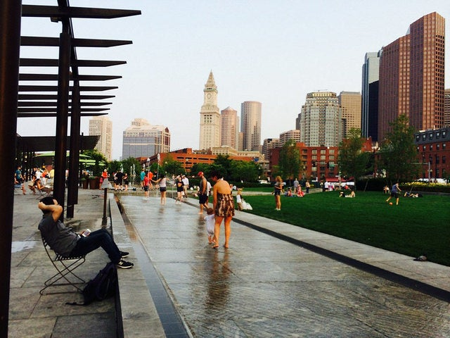 A portion of the Rose Kennedy Greenway in Boston's North End (photo by Melanie Wynne)