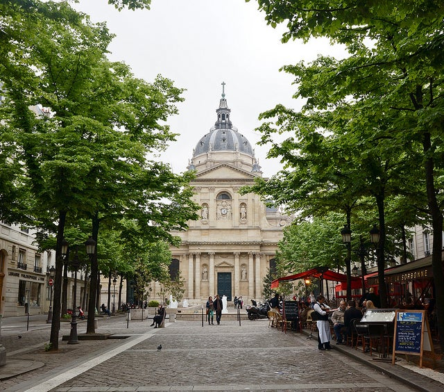 With fewer tourists in Paris over Labor Day Weekend, you just might have the Place de la Sorbonne all to yourself (photo by Melanie Wynne)