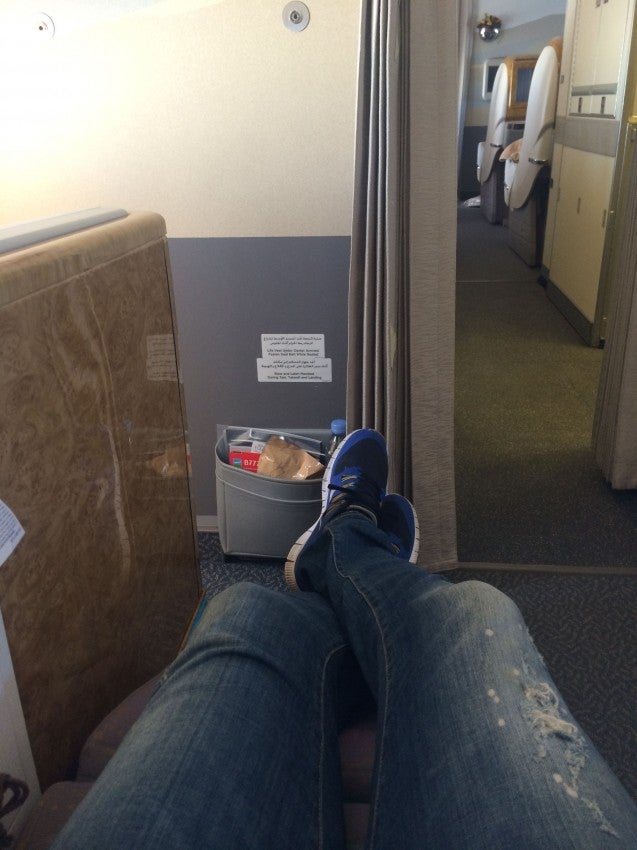 Plenty of legroom for me in 8B