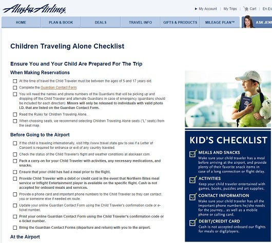 Alaska airlines has a great checklist that you can use, even if you are traveling on another carrier.