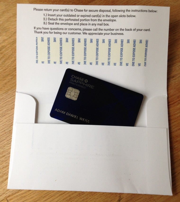 How to Dispose of Your Expired Chase Sapphire Preferred Card – The ...