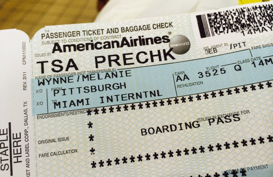 Random Selections for TSA Pre-Check  (like this one received by my Assistant Editor on a recent trip to MIA) will soon end.