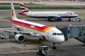 Iberia and British Airways both fly into Barcelona.