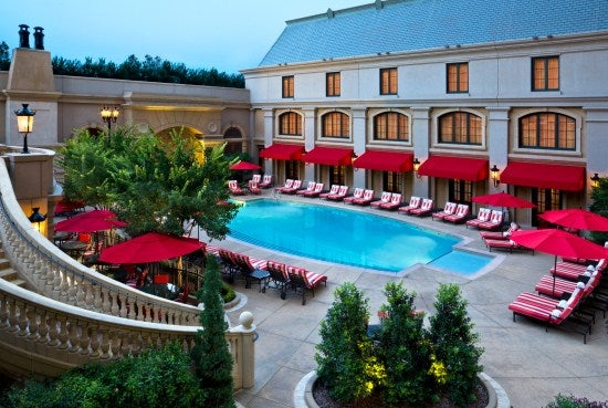 The pool at the St. Regis Atlanta, which has availability for the Time, the Ultimate Luxury rate throughout October and November.
