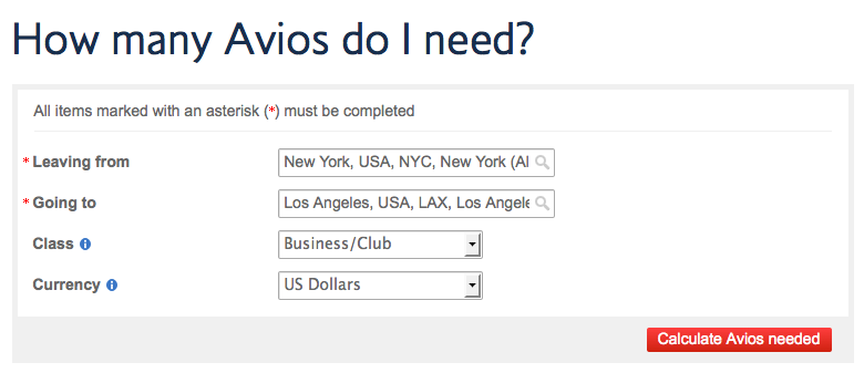 British Airways provides an easy-to-use calculator to help travelers decipher their distance-based award formula.