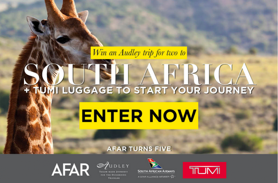 AFAR Magazine is celebrating its 5th birthday by giving away a South Africa trip