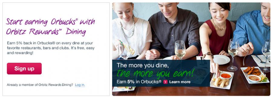 The Orbitz Rewards loyalty program has just launched a dining rewards program.