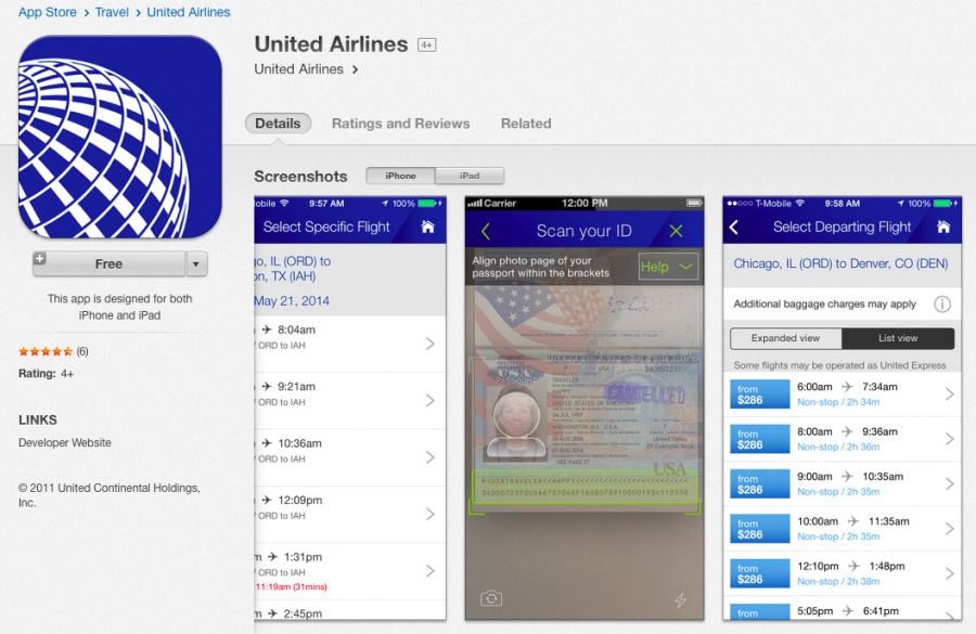 United's app will now let some international passengers scan their passports in advance.