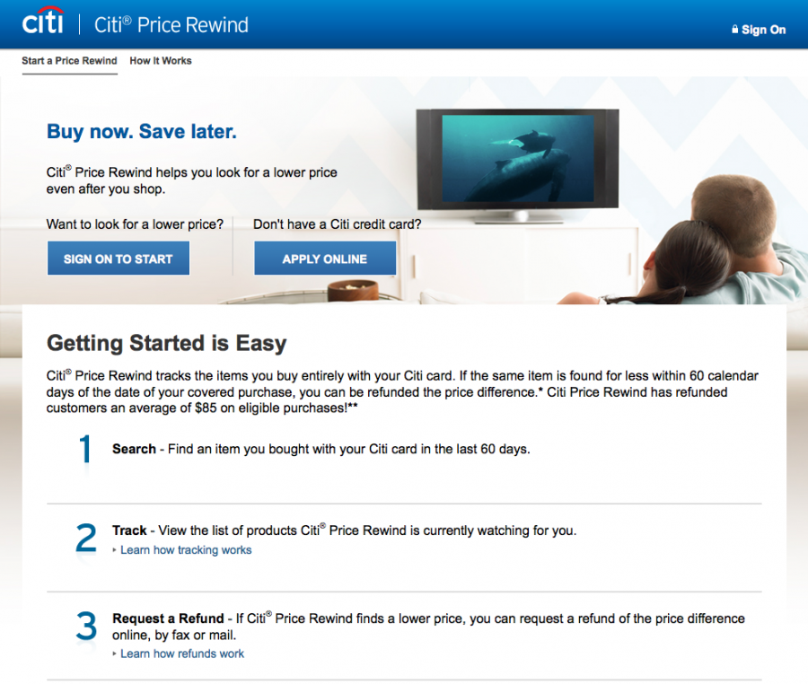 Citi Price Rewind can get you money back when an item you purchase drops within 60 days.