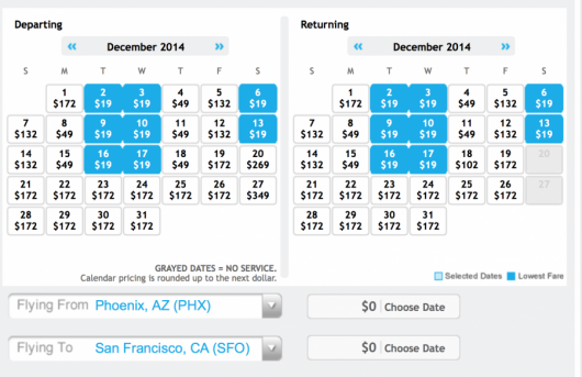 Frontier is running $19 fares on their new routes from Phoenix.
