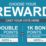 You can vote for Hilton's next promotion.