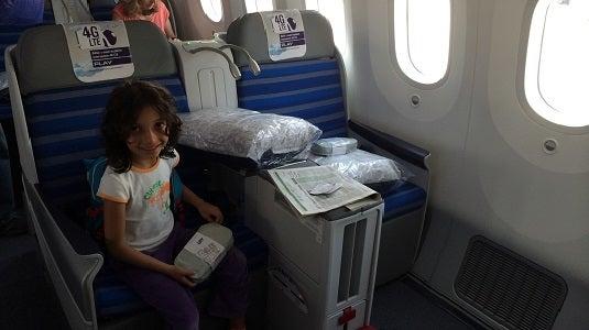LOT Dreamliner business class seats