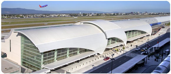 This week, a woman managed to fly from San Jose International Airport (pictured here) to LAX - without a ticket.