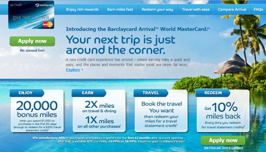 arrival world mastercard