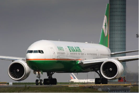 EVA Air of Taiwan serves several cities in North America.  (Image courtesy of ShutterStock.)