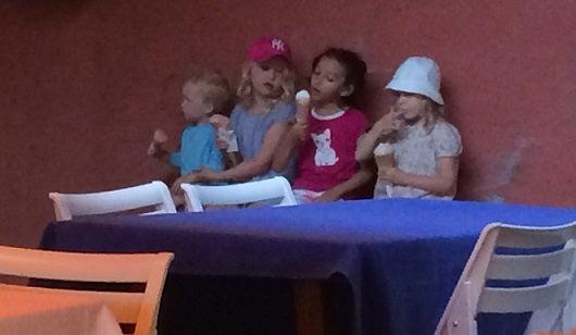 My oldest daughter enjoying gellato in Italy along with Gaetan's three oldest. children.