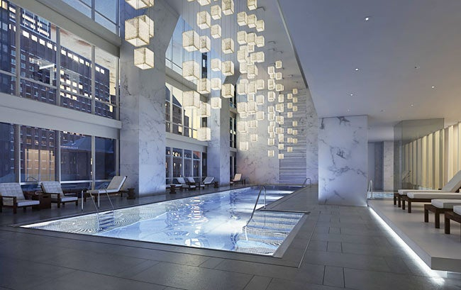 The indoor pool at Park Hyatt
