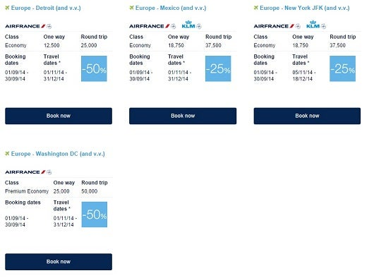 Flying Blue Promo Awards are among the best bargains among all frequent flier programs.