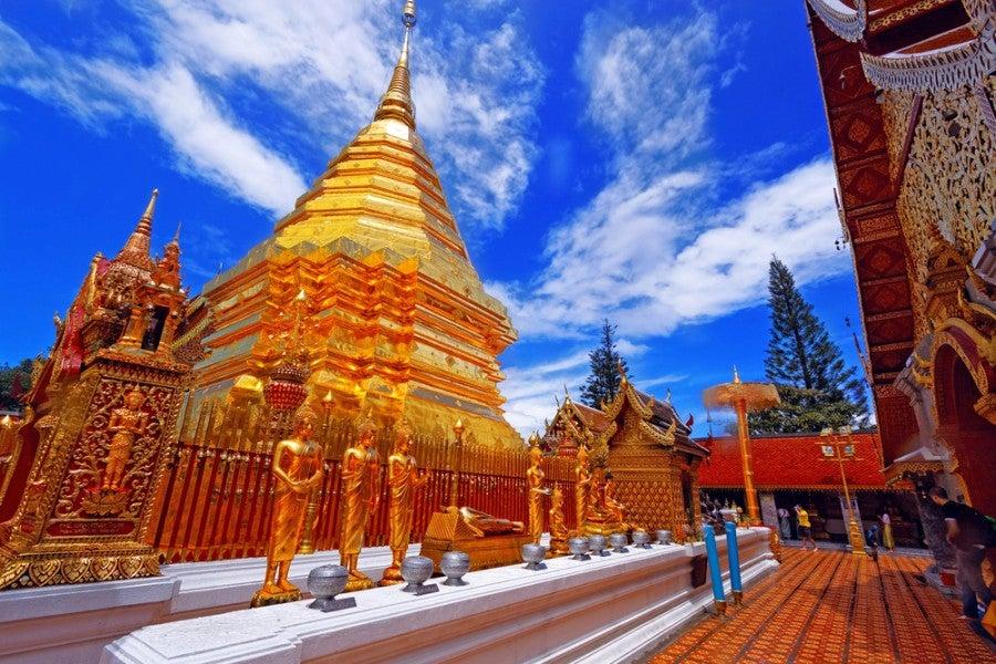 The Wat Phra That Doi Suthep temple. Shutterstock.
