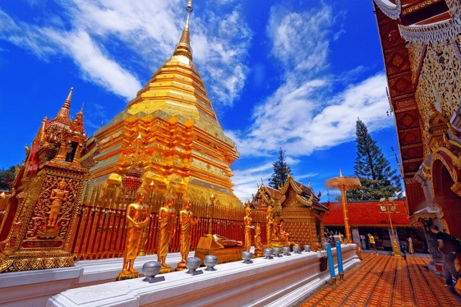 The Wat Phra That Doi Suthep temple. Shutterstock.
