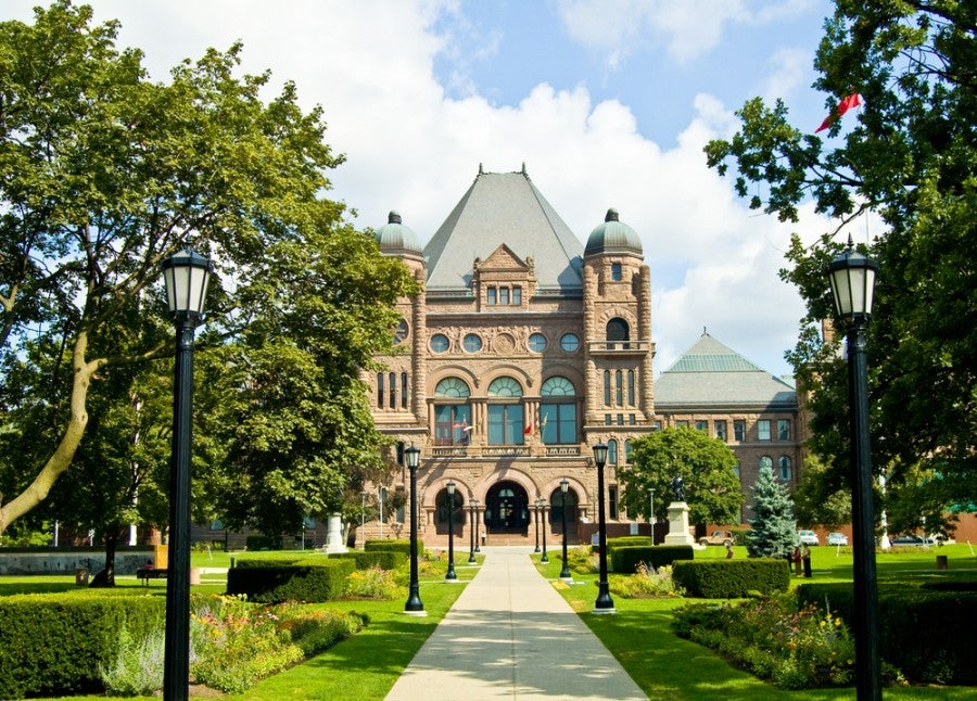 Queen's Park in Toronto, where you're sure to find some elbow room over the holiday weekend (photo courtesy of Shutterstock)