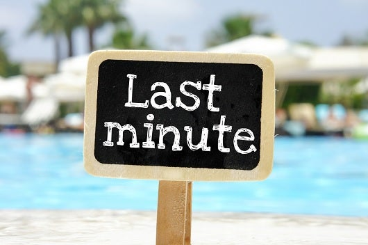 Last minute travel is always a challenge. (Image courtesy of Shutterstock)