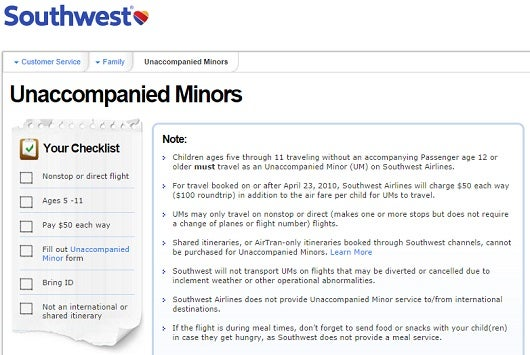 Unaccompanied minors tips to help kids fly solo safely the points guy southwest has one of the best unaccompanied minor policies but you can thecheapjerseys Choice Image