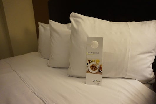 Even though each bed had four pillows of varying firmness, the beds still weren't very comfortable