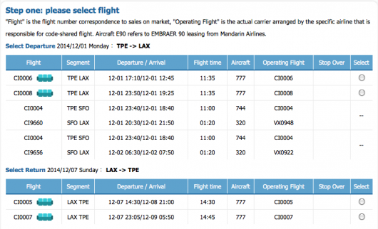 The new LAX-TPE route is already in the system and ready to go starting in December.