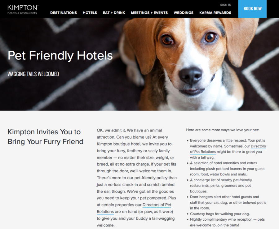 Truly Pet Friendly Hotels The Weekly Wish The Points Guy