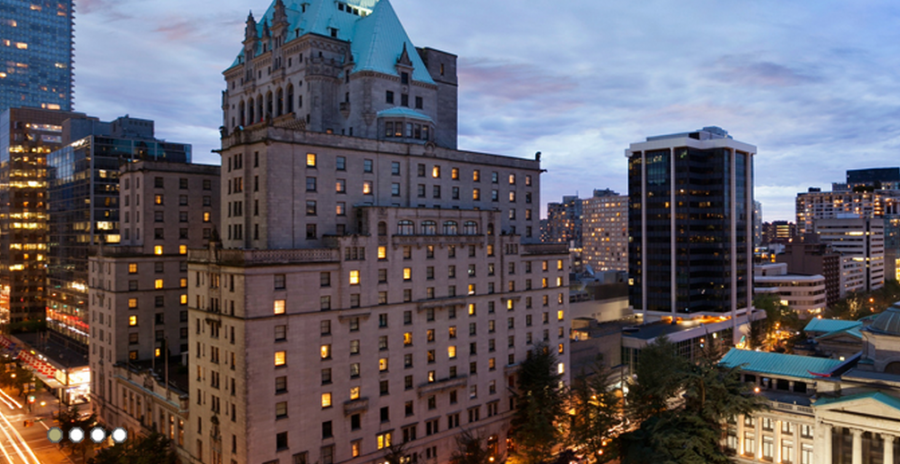 The iconic Fairmont Hotel Vancouver