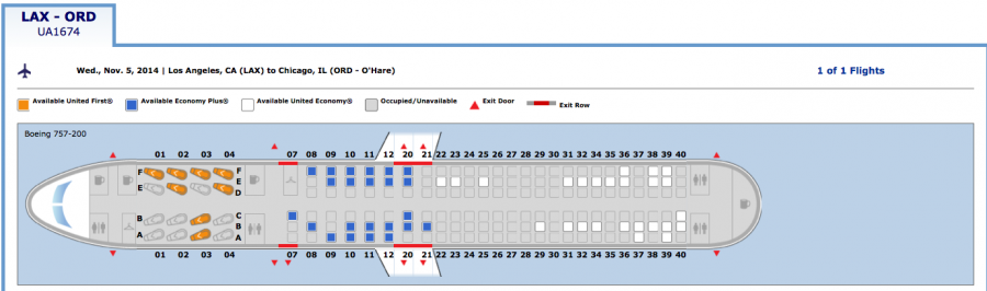 This Is What A Plane Seat Map With Businessfirst Seats Will Look Like