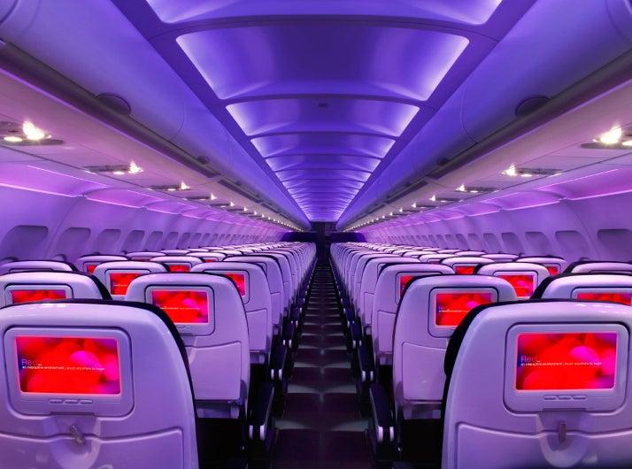 Virgin America cabin