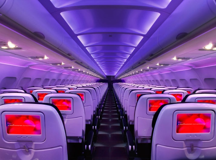 Virgin America cabin