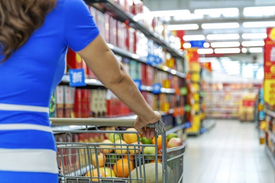 Make sure to maximize point earning by using the right credit cards for groceries.Shutterstock.