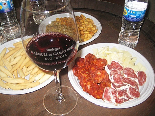 Just your typical Iberian wine tasting spread at Campo Marqués de Campo Nuble