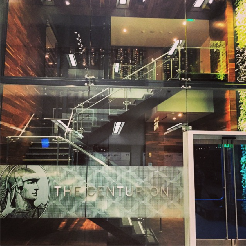The new American Express Centurion lounge at SFO.