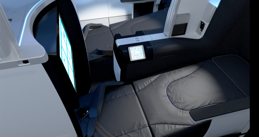 The 80-inch-long lie-flat seats on JetBlue's Mint business class are the longest in the industry